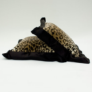 Little Giraffe Luxe Leopard Pillow