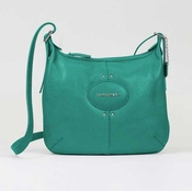 Longchamp Crossbody - Quadri - Turquoise