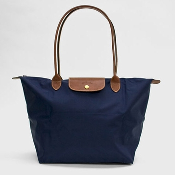 Longchamp Large Shoulder Tote - Le Pliage - New Navy