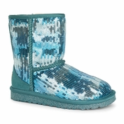 UGG Kid's Classic Short Sparkle Wave Boot