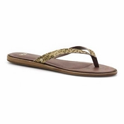 UGG Women's Allaria Metallic Leopard Calf Hair Sandal