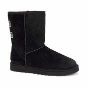 UGG Women's Classic Short Crystal Bow Boot