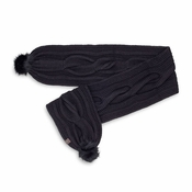 UGG Women's Nyla Cable Scarf w/ Lurex and Fur Pom