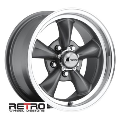 "Ford Ranger Lug Pattern >> 15x7"" 930-G Retro Wheel Designs Charcoal Gray wheels rims ..."