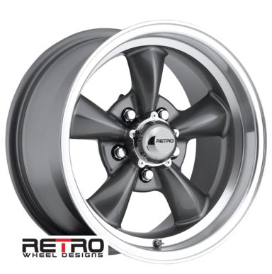 "Ford Ranger Lug Pattern >> 15x8"" 930-G Retro Wheel Designs Charcoal Gray wheels rims ..."