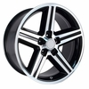 "16x8"" Black Chevy Iroc Z Replica Wheels Rims 5x4.75"" for Camaro 1967-1992"