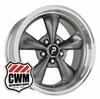 "17x8"" Bullitt Replica Anthracite Silver Wheels Rims for Ford Mustang 1965-1973"