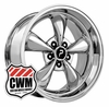 "17x8"" Bullitt Replica Chrome Wheels Rims 5x4.50"" for Ford Mustang 1965-1973"