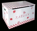Custom Painted Toybox - Pink Roses