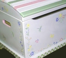 Hand Painted Toy Chest - Meadowsweet