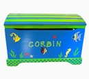Handpainted Toy Chest - Go Fish
