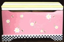 Handpainted Toy Chest - Little Bee Pink