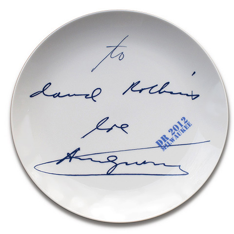 "David Robbins ""Memento (From Andy With Love)"" Plate"