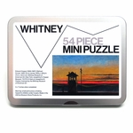 Edward Hopper Railroad Sunset Mini Jigsaw Puzzle
