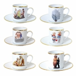 Jeff Koons Banality Series Espresso Cup Set of 6