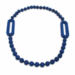 3-D Printed Jointed Jewels Loop Necklace - Navy