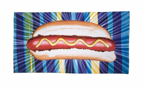 Kenny Scharf's Introducing... The Hot Dog Beach Towel