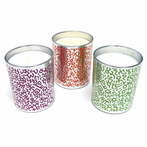 Linge Blanche Keith Haring Chrome Scented Candles
