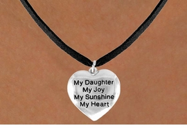 """<bR>         AN ALLAN ROBIN DESIGN<bR>               EXCLUSIVELY OURS!!<BR>CLICK HERE TO SEE 120+ EXCITING<BR>   CHANGES THAT YOU CAN MAKE!<BR>              LEAD & NICKEL FREE!!<BR>     W600SN - """"MY DAUGHTER"""" &<BR>        NECKLACE AS LOW AS $4.50"""