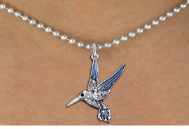 <BR>                      BIRD   NECKLACE <bR>                   EXCLUSIVELY OURS!! <Br>              AN ALLAN ROBIN DESIGN!! <BR>     CLICK HERE TO SEE 1000+ EXCITING <BR>           CHANGES THAT YOU CAN MAKE! <BR>        LEAD, NICKEL & CADMIUM FREE!! <BR>     W1440SN - SILVER TONE WITH CLEAR <BR> CRYSTAL HUMMINGBIRD CHARM & NECKLACE <BR>            FROM $5.90 TO $9.35 �2013