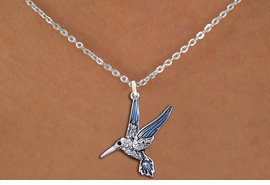<BR>                      BIRD   NECKLACE <bR>                   EXCLUSIVELY OURS!! <Br>              AN ALLAN ROBIN DESIGN!! <BR>     CLICK HERE TO SEE 1000+ EXCITING <BR>           CHANGES THAT YOU CAN MAKE! <BR>        LEAD, NICKEL & CADMIUM FREE!! <BR>     W1440SN - SILVER TONE WITH CLEAR <BR> CRYSTAL HUMMINGBIRD CHARM & NECKLACE <BR>            FROM $5.55 TO $9.00 �2013