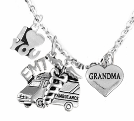 <BR>         EMT, I LOVE YOU GRANDMA CHARM NECKLACE<BR>                             AN ALLAN ROBIN DESIGN!! <Br>                         CADMIUM, LEAD & NICKEL FREE!!  <Br> W1530-380-1832N1 ON A CABLE CHAIN NECKLACE <BR>                              FROM $7.50 TO $9.50 �2016