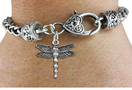 <bR>                  EXCLUSIVELY OURS!!<BR>            AN ALLAN ROBIN DESIGN!! <BR>  CADMIUM, LEAD & NICKEL FREE!! <BR>     W1390SB - DRAGONFLY CHARM &<BR>  HEART LOBSTER CLASP BRACELET <BR>          FROM $3.94 TO $8.75 �2013