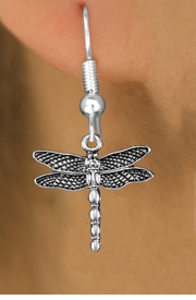<bR>                  EXCLUSIVELY OURS!!<BR>            AN ALLAN ROBIN DESIGN!! <BR>  CADMIUM, LEAD & NICKEL FREE!! <BR> W1390SE - ANTIQUED SILVER TONE <BR>     DRAGONFLY CHARM EARRINGS <BR>      FROM $3.25 TO $8.00 �2013