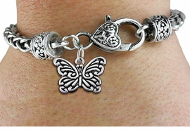 <bR>                  EXCLUSIVELY OURS!!<BR>            AN ALLAN ROBIN DESIGN!! <BR>  CADMIUM, LEAD & NICKEL FREE!! <BR>     W1391SB - BUTTERFLY CHARM &<BR>  HEART LOBSTER CLASP BRACELET <BR>          FROM $3.94 TO $8.75 �2013