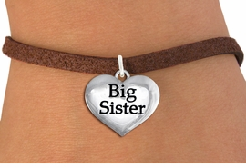 "<bR>                     EXCLUSIVELY OURS!!<BR>               AN ALLAN ROBIN DESIGN!!<BR>      CLICK HERE TO SEE 1000+ EXCITING<BR>         CHANGES THAT YOU CAN MAKE!<BR>        CADMIUM,  LEAD & NICKEL FREE!! <BR>W1297SB - POLISHED SILVER TONE <BR>""BIG SISTER"" HEART CHARM BRACELET <BR>           FROM $4.15 TO $8.00 �2012"