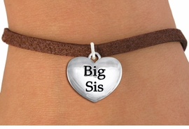 """<bR>                     EXCLUSIVELY OURS!!<BR>               AN ALLAN ROBIN DESIGN!!<BR>      CLICK HERE TO SEE 1000+ EXCITING<BR>         CHANGES THAT YOU CAN MAKE!<BR>        CADMIUM,  LEAD & NICKEL FREE!! <BR>W1298SB - POLISHED SILVER TONE <BR>""""BIG SIS"""" HEART CHARM BRACELET <BR>           FROM $4.15 TO $8.00 �2012"""