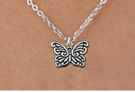 <bR>                 EXCLUSIVELY OURS!!<BR>           AN ALLAN ROBIN DESIGN!!<BR>  CLICK HERE TO SEE 1000+ EXCITING<BR>     CHANGES THAT YOU CAN MAKE!<BR> CADMIUM, LEAD & NICKEL FREE!! <BR>     W1391SN - BUTTERFLY CHARM <BR> NECKLACE FROM $4.55 TO $8.00 �2013