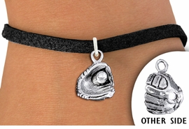 <bR>               EXCLUSIVELY OURS!!<BR>          AN ALLAN ROBIN DESIGN!!<BR> CLICK HERE TO SEE 1000+ EXCITING<BR>       CHANGES THAT YOU CAN MAKE!<BR>    CADMIUM, LEAD & NICKEL FREE!!<BR> W1406SB - DETAILED SILVER TONE <Br>  BASEBALL / SOFTBALL MITT CHARM <BR>& BRACELET FROM $4.15 TO $8.00 �2013