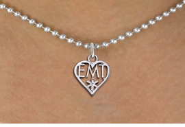 <bR>                 EXCLUSIVELY OURS!! <BR>            AN ALLAN ROBIN DESIGN!! <BR>   CLICK HERE TO SEE 1000+ EXCITING <BR>         CHANGES THAT YOU CAN MAKE! <BR>      CADMIUM, LEAD & NICKEL FREE!! <BR> W1430SN - EMT HEART CHARM NECKLACE <BR>           FROM $4.55 TO $8.00 �2013