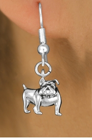 <bR>               EXCLUSIVELY OURS!!<BR>         AN ALLAN ROBIN DESIGN!!<BR>CLICK HERE TO SEE 1000+ EXCITING<BR>   CHANGES THAT YOU CAN MAKE!<BR>      CADMIUM,  LEAD & NICKEL FREE!! <BR>W298SE -  POLISHED SILVER TONE <BR>BULLDOG CHARM EARRINGS  <BR>      FROM $3.25 TO $8.00 �2012