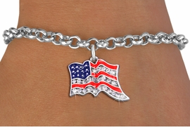 <bR>               EXCLUSIVELY OURS!!<Br>         AN ALLAN ROBIN DESIGN!! <BR>CLICK HERE TO SEE 1000+ EXCITING <BR>   CHANGES THAT YOU CAN MAKE!<BR>   LEAD, NICKEL & CADMIUM FREE!! <BR> W1317SB - PATRIOTIC USA FLAG <BR>     CRYSTAL CHARM & BRACELET <BR>     FROM $5.40 TO $9.85 �2012