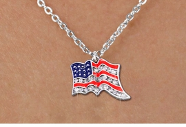 <bR>                  EXCLUSIVELY OURS!!<Br>            AN ALLAN ROBIN DESIGN!!<BR>   CLICK HERE TO SEE 1000+ EXCITING<BR>      CHANGES THAT YOU CAN MAKE!<BR>     LEAD, NICKEL & CADMIUM FREE!!<BR> W1317SN - PATRIOTIC USA FLAG <BR>CRYSTAL CHARM AND CHILD'S NECKLACE <BR>         FROM $5.40 TO $9.85 �2012
