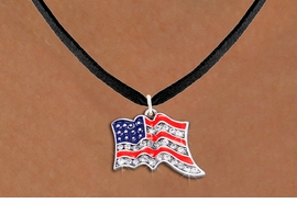 <bR>                  EXCLUSIVELY OURS!!<Br>            AN ALLAN ROBIN DESIGN!!<BR>   CLICK HERE TO SEE 1000+ EXCITING<BR>      CHANGES THAT YOU CAN MAKE!<BR>     LEAD, NICKEL & CADMIUM FREE!!<BR> W1317SN - PATRIOTIC USA FLAG <BR>      CRYSTAL CHARM AND NECKLACE <BR>         FROM $5.55 TO $9.00 �2012