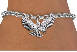 <bR>               EXCLUSIVELY OURS!!<Br>         AN ALLAN ROBIN DESIGN!! <BR>CLICK HERE TO SEE 1000+ EXCITING <BR>   CHANGES THAT YOU CAN MAKE!<BR>   LEAD, NICKEL & CADMIUM FREE!! <BR>W1319SB - DETAILED FLYING EAGLE <BR>     CRYSTAL CHARM & BRACELET <BR>     FROM $5.15 TO $9.00 �2012