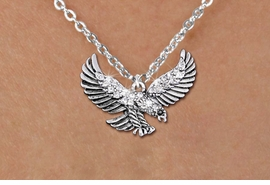 <bR>                  EXCLUSIVELY OURS!!<Br>            AN ALLAN ROBIN DESIGN!!<BR>   CLICK HERE TO SEE 1000+ EXCITING<BR>      CHANGES THAT YOU CAN MAKE!<BR>     LEAD, NICKEL & CADMIUM FREE!!<BR> W1319SN - BEAUTIFUL FLYING EAGLE <BR>CRYSTAL CHARM AND CHILD'S NECKLACE <BR>         FROM $5.40 TO $9.85 �2012