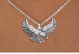 <bR>                  EXCLUSIVELY OURS!!<Br>            AN ALLAN ROBIN DESIGN!!<BR>   CLICK HERE TO SEE 1000+ EXCITING<BR>      CHANGES THAT YOU CAN MAKE!<BR>     LEAD, NICKEL & CADMIUM FREE!!<BR> W1319SN - BEAUTIFUL FLYING EAGLE <BR>      CRYSTAL CHARM AND NECKLACE <BR>         FROM $5.55 TO $9.00 �2012