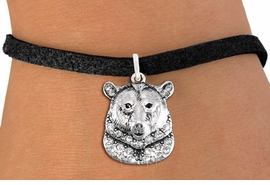 <bR>               EXCLUSIVELY OURS!!<Br>         AN ALLAN ROBIN DESIGN!! <BR>CLICK HERE TO SEE 1000+ EXCITING <BR>   CHANGES THAT YOU CAN MAKE!<BR>   LEAD, NICKEL & CADMIUM FREE!! <BR> W1351SB - DETAILED GRIZZLY BEAR <BR> WITH CLEAR CRYSTALS CHARM & BRACELET <BR>     FROM $5.15 TO $9.00 �2012