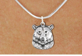 <bR>                  EXCLUSIVELY OURS!!<Br>            AN ALLAN ROBIN DESIGN!!<BR>   CLICK HERE TO SEE 1000+ EXCITING<BR>      CHANGES THAT YOU CAN MAKE!<BR>     LEAD, NICKEL & CADMIUM FREE!!<BR>W1351SN - DETAILED GRIZZLY BEAR <BR>WITH CLEAR CRYSTAL CHARM NECKLACE <BR>         FROM $5.55 TO $9.00 �2012