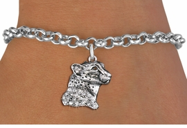 <bR>               EXCLUSIVELY OURS!!<Br>         AN ALLAN ROBIN DESIGN!! <BR>CLICK HERE TO SEE 1000+ EXCITING <BR>   CHANGES THAT YOU CAN MAKE!<BR>   LEAD, NICKEL & CADMIUM FREE!! <BR> W1353SB - DETAILED CHEETAH WITH <BR> CLEAR CRYSTALS CHARM & BRACELET <BR>     FROM $5.15 TO $9.00 �2012