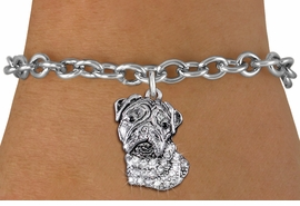 <bR>               EXCLUSIVELY OURS!!<Br>         AN ALLAN ROBIN DESIGN!! <BR>CLICK HERE TO SEE 1000+ EXCITING <BR>   CHANGES THAT YOU CAN MAKE!<BR>   LEAD, NICKEL & CADMIUM FREE!! <BR> W1356SB - DETAILED BULLDOG HEAD <BR> WITH CRYSTALS CHARM & BRACELET <BR>     FROM $5.15 TO $9.00 �2012