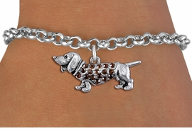 <bR>               EXCLUSIVELY OURS!!<Br>         AN ALLAN ROBIN DESIGN!! <BR>CLICK HERE TO SEE 1000+ EXCITING <BR>   CHANGES THAT YOU CAN MAKE!<BR>   LEAD, NICKEL & CADMIUM FREE!! <BR> W1357SB - DETAILED DASCHSHUND <BR> WITH CRYSTALS CHARM & BRACELET <BR>     FROM $5.15 TO $9.00 �2012