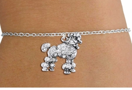 <bR>               EXCLUSIVELY OURS!!<Br>         AN ALLAN ROBIN DESIGN!! <BR>CLICK HERE TO SEE 1000+ EXCITING <BR>   CHANGES THAT YOU CAN MAKE!<BR>   LEAD, NICKEL & CADMIUM FREE!! <BR> W1358SB - DETAILED POODLE <BR> WITH CRYSTALS & CHILDS BRACELET <BR>     FROM $5.15 TO $9.00 �2012