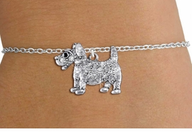 <bR>               EXCLUSIVELY OURS!!<Br>         AN ALLAN ROBIN DESIGN!! <BR>CLICK HERE TO SEE 1000+ EXCITING <BR>   CHANGES THAT YOU CAN MAKE!<BR>   LEAD, NICKEL & CADMIUM FREE!! <BR> W1359SB - DETAILED TERRIER <BR> WITH CRYSTALS & CHILDS BRACELET <BR>     FROM $5.15 TO $9.00 �2012