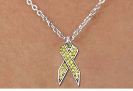 <bR>                  EXCLUSIVELY OURS!! <Br>              AN ALLAN ROBIN DESIGN!! <BR>     CLICK HERE TO SEE 1000+ EXCITING <BR>        CHANGES THAT YOU CAN MAKE! <BR>       LEAD, NICKEL & CADMIUM FREE!! <BR> W1385SN - YELLOW AWARENESS CRYSTAL <BR>RIBBON CHARM AND CHILD'S NECKLACE <BR>           FROM $5.55 TO $9.00 �2013
