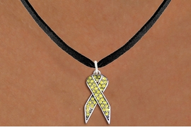 <bR>                  EXCLUSIVELY OURS!! <Br>              AN ALLAN ROBIN DESIGN!! <BR>     CLICK HERE TO SEE 1000+ EXCITING <BR>        CHANGES THAT YOU CAN MAKE! <BR>       LEAD, NICKEL & CADMIUM FREE!! <BR> W1385SN - YELLOW AWARENESS CRYSTAL <BR>     RIBBON CHARM AND NECKLACE <BR>           FROM $5.40 TO $9.85 �2013